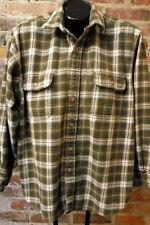 Vintage Field & Stream Shirt Size XL Green Plaid Heavy Flannel Men's Shirt
