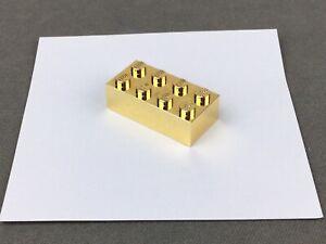 Lego Chrome Gold Brick 2x4 - 3001 (Rare) ~ Genuine part ~ Golden Shiny ~ New