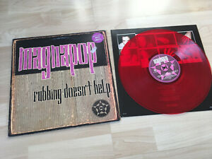 MAGNAPOP RUBBING DOESN'T HELP LP LIMITED RED VINYL 1996 VG+