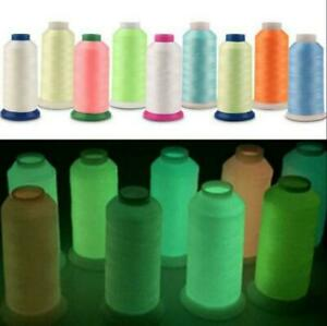 1000 Yards Sewing Thread Spool Luminous Glow in the Dark Machine Embroidery DIY