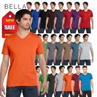 Bella + Canvas Short Sleeve Unisex V-Neck Jersey XS-XL T-Shirt R-3005