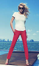 NEW EXPRESS $70 KISS KISS RED ULTIMATE DOUBLE WEAVE COLUMNIST ANKLE PANTS SZ 12