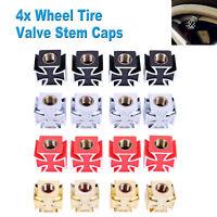 4 PCS Tire Wheel Rims Stem Air Valve Caps Tyre Cover Car Bike I4D2 Supply M1E4