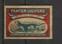 Panter Safety Matches Dutch Vintage Matchbox Label