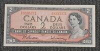 Canada 1954 Beattie Rasminsky BC-38b $2.00 Banknote AR 9395371 UNC