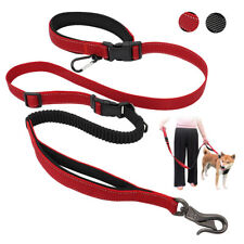 Dog Leash for Car Seatbelt Reflective Bungee Multiple Dog Seat Belt w/ Carabiner