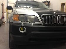 00-03 BMW X5 SMOKE FOG LIGHT TINT COVER BLACK OUT SMOKED-COLORED LAMIN-X FILM