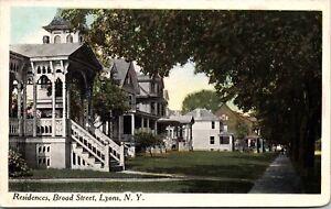Postcard Residences on Broad Street in Lyons, New York~139890