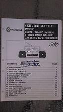 samsung w290 service manual original repair book stereo boombox radio tape deck