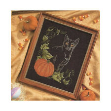 "Counted Cross Stitch Kit Animal ""pumpkin cat""  living room decoration 29*34cm"
