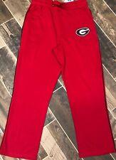 NWT University Of Georgia Bulldogs UGA L/XL Sweatpants Red Stretch Waistband $40