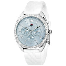 Tommy Hilfiger Multi-Function Silver Dial White Silicone Ladies Watch 1781569