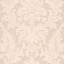 Rollos de papel pintado barrocos color principal beige