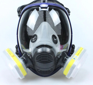 Respirator Face Full Mask Gas Goggles Paint Cover Uk Filter Spray Comprehensive