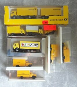 7x H0 Car Models Davon 6x Post 1x Heinz 92 6x Well Preserved 1x Loose With Ovps