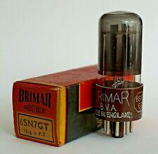 Brimar 6SN7GT Black Glass/Brown Base Valve/Tube New Old Stock (V43)