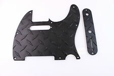 Black Anodized Aluminum Diamond Plate Tele Pickguard Set Fits Fender Telecaster