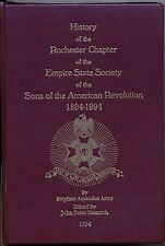 History of the Rochester Chapter SAR Gold Stamped Hard Cover Brand New!