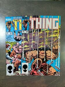The Thing 2 Book lot #25,26 VF (1985) Marvel Comics