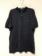 Polo by Ralph Lauren Men's Polo Shirt Short Sleeve Navy Checked Size M