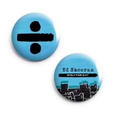 """Set of 2 - Ed Sheeran - 25mm (1"""") Pin Button Badges - Concert - Tour"""
