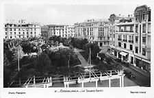Africa real photo postcard Morocco Casablanca Le Square Gentil