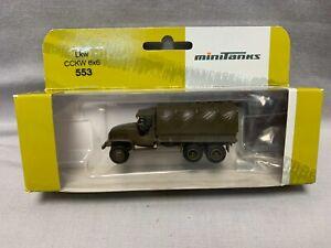 Roco Minitanks HO Scale Lkw CCKW A-5033, 6X6 Truck, 553 - NIB