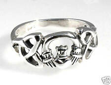 Sterling Silver IRISH Celtic Heart CLADDAGH Ring SIZE 9