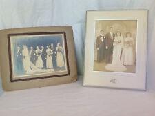 2 Large Antique Wedding Portrait Photographs