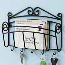 metal Mail Letter & Key Keys Hook hooks Wall Mount Hanging Rack Holder Organizer