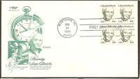 US SC #1868 Lillian Gilbreth FDC. Block Of 4, Artmaster Cachet
