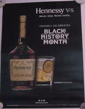 New Lot of 2 Store Display Paper Posters HENNESSY BLACK HISTORY MONTH  Barware