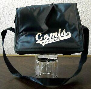 COMIS NITE CLUB portable plastic mini cooler koozie beer bag Toledo bar OHIO vtg