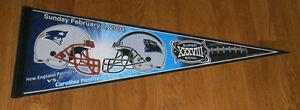 2004 New England Patriots vs Carolina Panthers Super Bowl 38 pennant SB XXXVIII