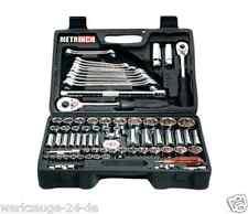 "METRINCH 1/2""+3/8"" + 1/4"" Box for Set of sockets Set 76-pieces MET-0076"