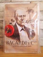 Bacardi Fledermaus Blechschild Nostalgie Schild 30cm Spirituose
