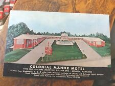 Colonial Manor Motel - Bethesda, MD - Circa 1960's  Different Picture