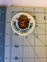 Vintage SMOKEY THE BEAR PREVENT FOREST FIRES Iron on Patch NEW