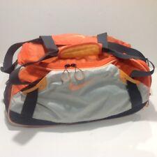 Nike Orange Duffle Gym Bag Tote Cross-Body or Hand-held w/side pockets18x9 Inch