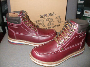 ROUTE 21 OXBLOOD 7 EYELET ANKLE BOOTS SIZES 7 +  12. ONLY £25 A BARGAIN!