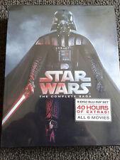 NEW Star Wars: The Complete Saga (Blu-ray Disc, 9-Disc Set, Boxed Set) Sealed