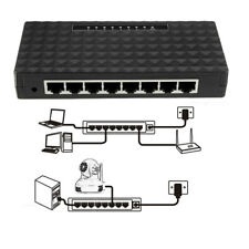 8-Port Gigabit Ethernet Desktop Switch Network US/EU Plug RJ45 10/100/1000 Mbps