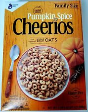 NEW PUMPKIN SPICE CHEERIOS CEREAL 21 OZ LIMITED EDITION FREE WORLDWIDE SHIPPING