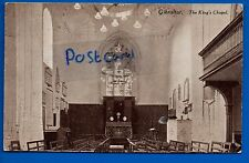 OLD POSTCARD THE KINGS CHAPEL MAIN STREET GIBRALTAR - UN-POSTED