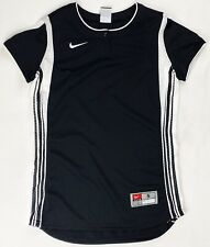 Nike Striped Performance Henley Vented Softball Jersey Women's S Black 243415