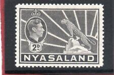 Nyasaland GV1 1938-44 2d grey sg 133 H.Mint