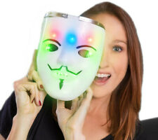 LED Carnival Props Anonymous Guy Fawkes V for Vendetta Movie Themed Mask