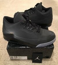 Nike Air Jordan Retro 3 III 5Lab3 Size 15 Black Clear 3M Silver New DS Sample