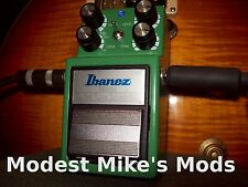 Modified Ibanez TS9DX from Modest Mike's Mods!
