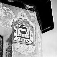 AUTRICHE c.1960 - Cadran Solaire Lech Vorarlberg - Négatif 6 x 6 - Aut 121